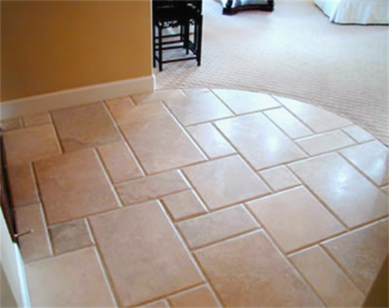 Ceramic porcelain tile installation m r flooring company for Ceramic tiles for kitchen floor ideas